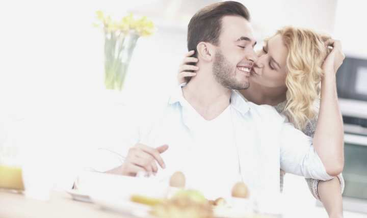 Have a happier marriage by kissing good-bye each day.